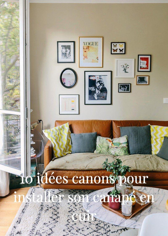 Canape En Cuir 10 Idees Deco Pour Le Salon Idee Deco Petit Salon Deco Petit Salon Idee Deco