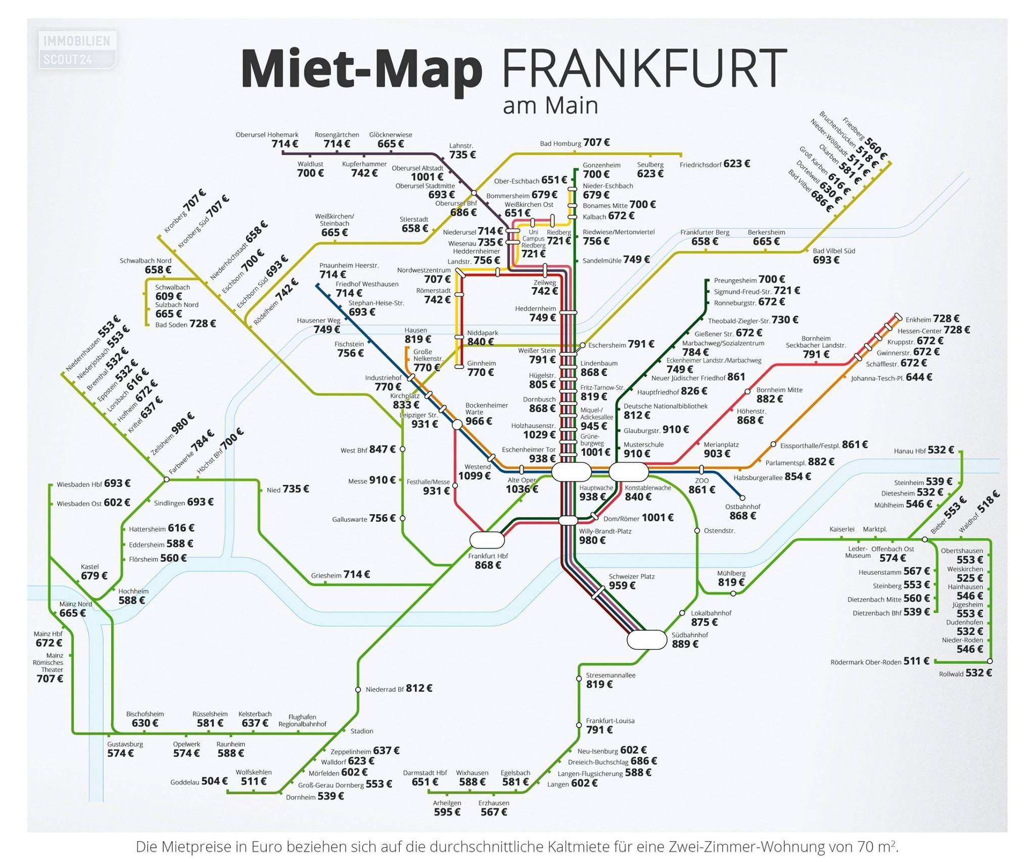 Jetzt Hat Auch Frankfurt Seine Mietmap Entlang Der U Und S