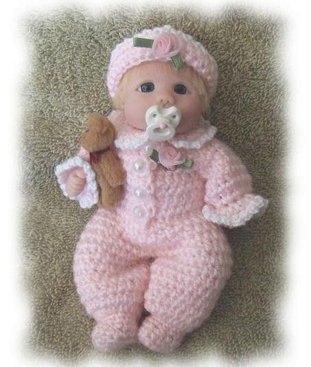 Crochet Pattern For 5 To 6 Inch Polymer Clay Baby Pretty Etsy Polymer Clay Dolls Clay Baby Clay Dolls