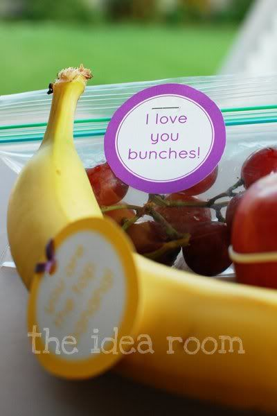 little love notes for lunch also good organizing tip to baggie the weeks lunch
