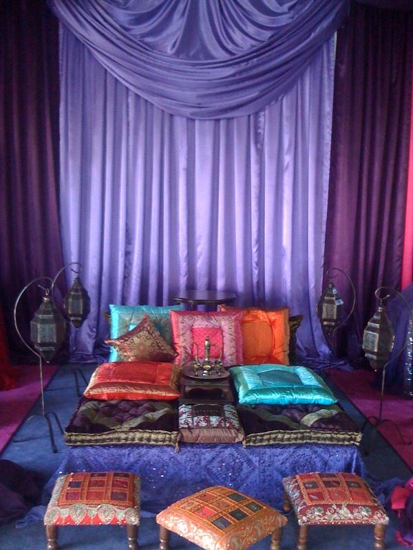 Arabian nights theme decor and furniture rentals www for Cortinas marroquies