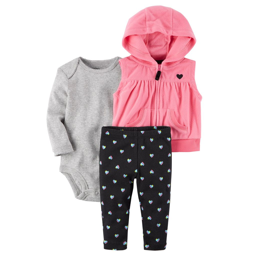 91df9683100 Carter s Baby Girl Hooded Fleece Vest