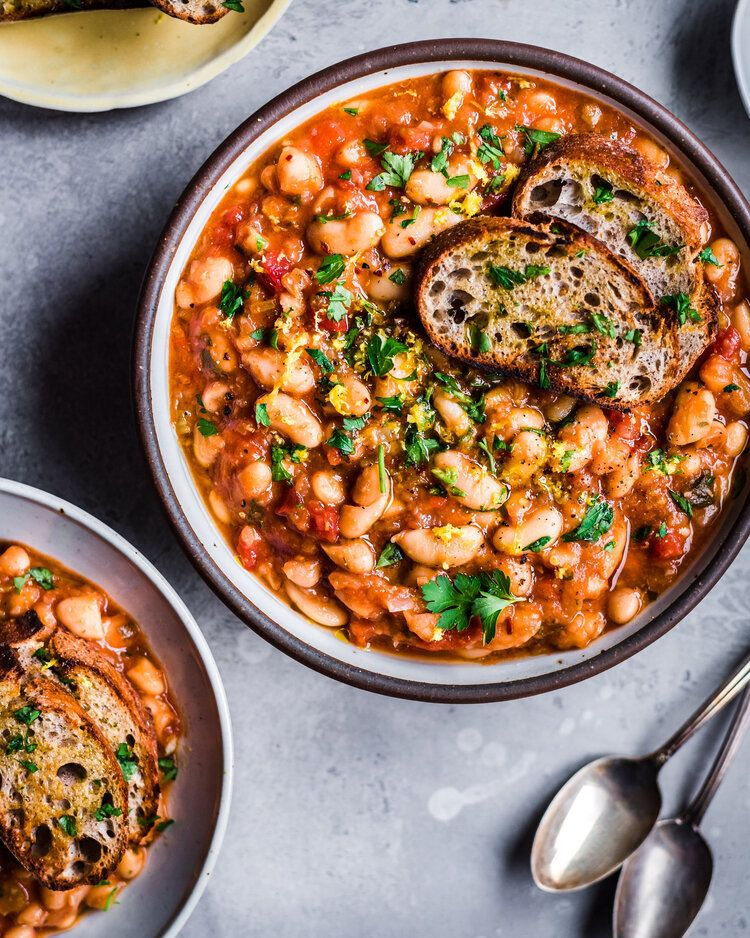 Vegan Instant Pot White Bean Stew Rainbow Plant Life In 2020 Cannellini Beans Recipes Bean Stew Instant Pot Recipes