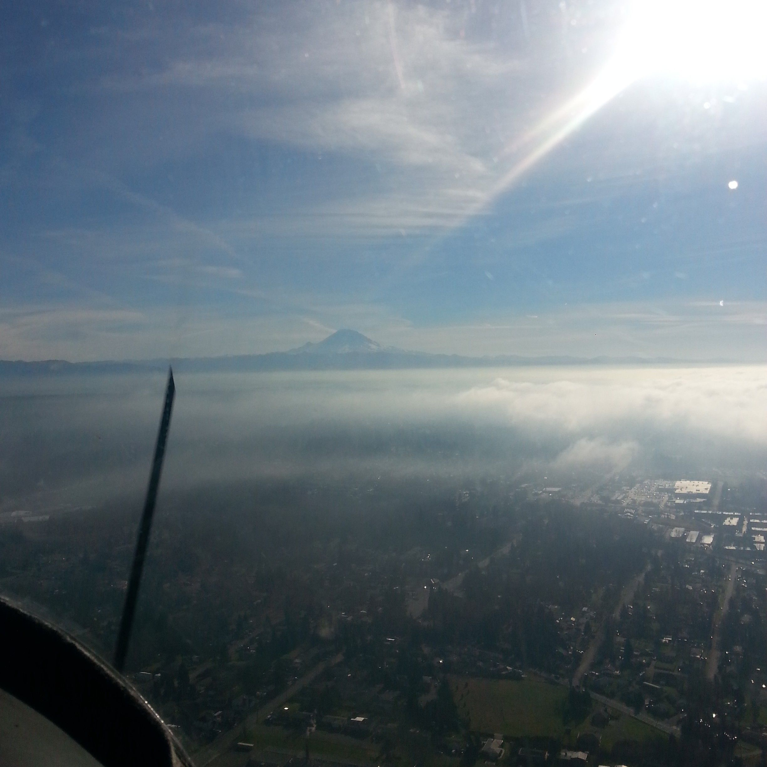 Heading towards Maple Valley on a great day flying! #Winter #Flying #MapleValley