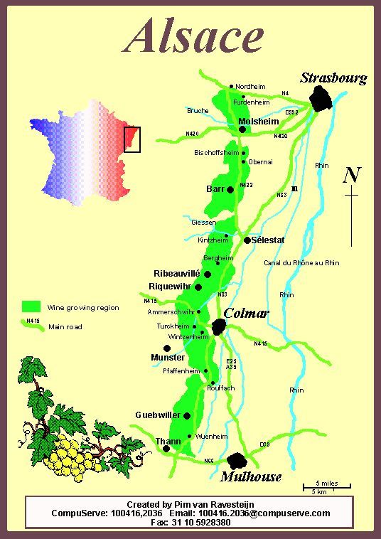 Alsace France Alsace France wine French map Premium wines