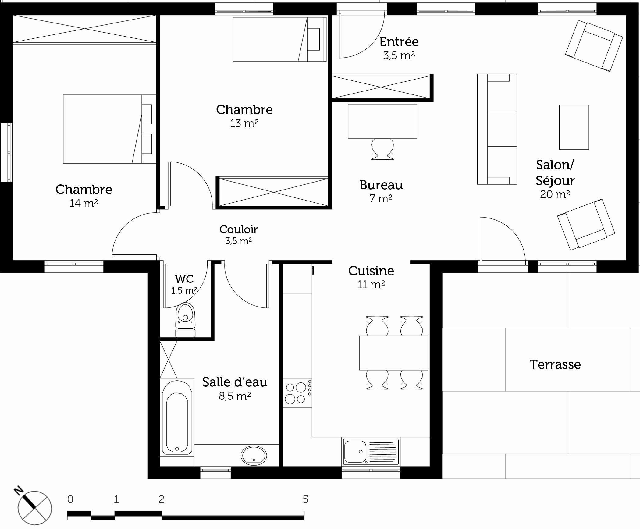 10 Plan Maison Moderne Plain Pied Toit Plat Good Company How To Plan Floor Plans