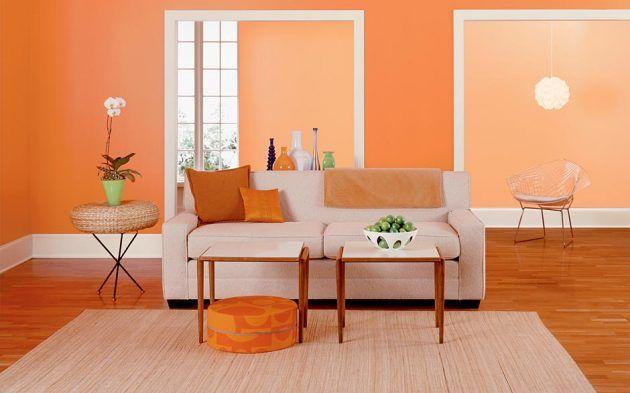 15 attraktive Ideen, um Orange Farbe in Ihrem Interior