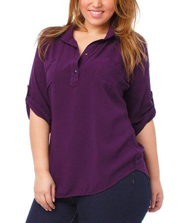 Another great find on #zulily! Plum Elliot Tunic - Plus by Thread & Butter #zulilyfinds