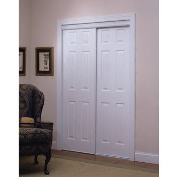 60 X 80 6 Panel White Bypass Door White Paneling Home Decor Home