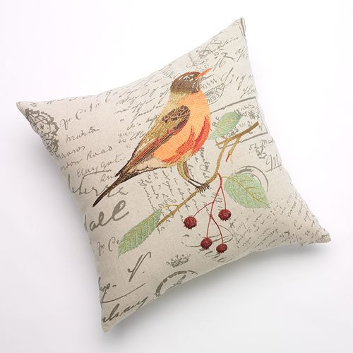 Kohls Decorative Pillows Alluring Kohls $19 Terry Bird Decorative Pillow  Pillows  Pinterest  Pillows Design Ideas