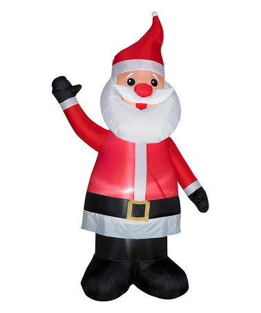 Red Nose Santa Inflatable Light-Up Lawn Decoration Red nose, Lawn - inflatable outdoor christmas decorations