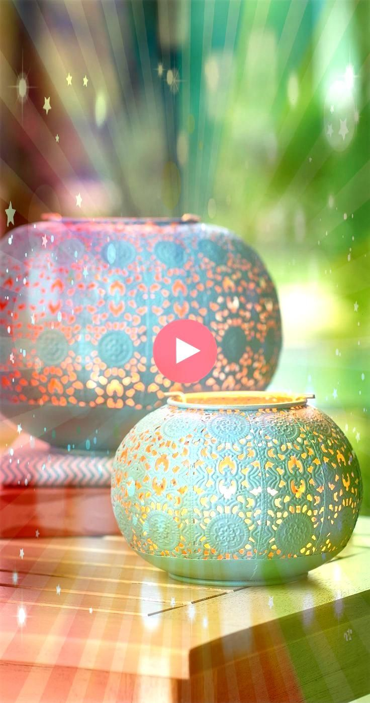 a dash of color with our Isla Lanterns The three lanterns feature a rich turquoise patin  Add a dash of color with our Isla Lanterns The three lanterns feature a rich tur...
