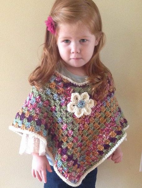 Poncho For Toddler Or Child Size Crochet By Tracypluscrochet