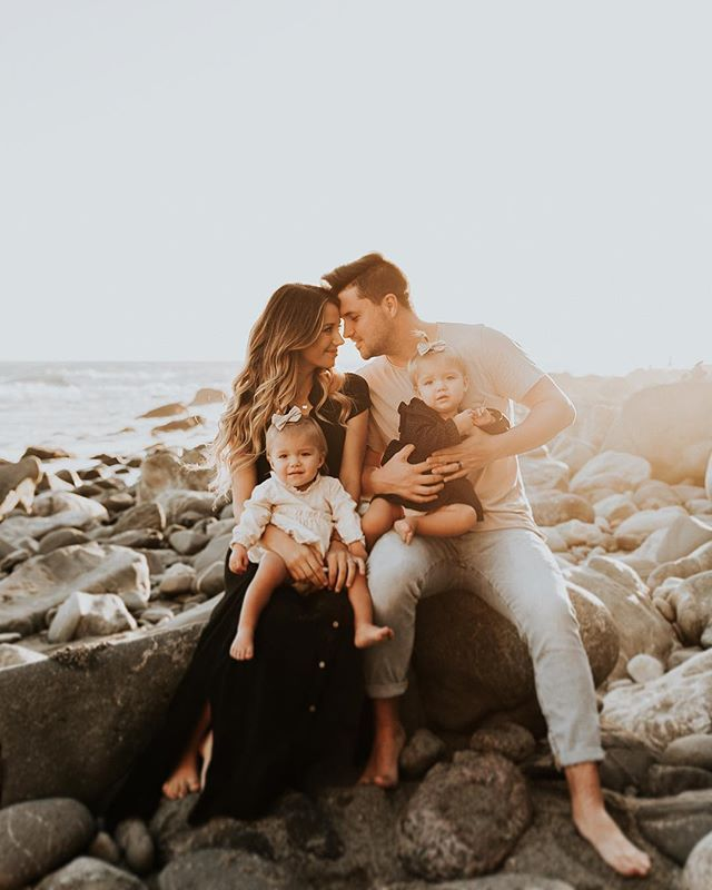 Family Beach Pictures, Fall