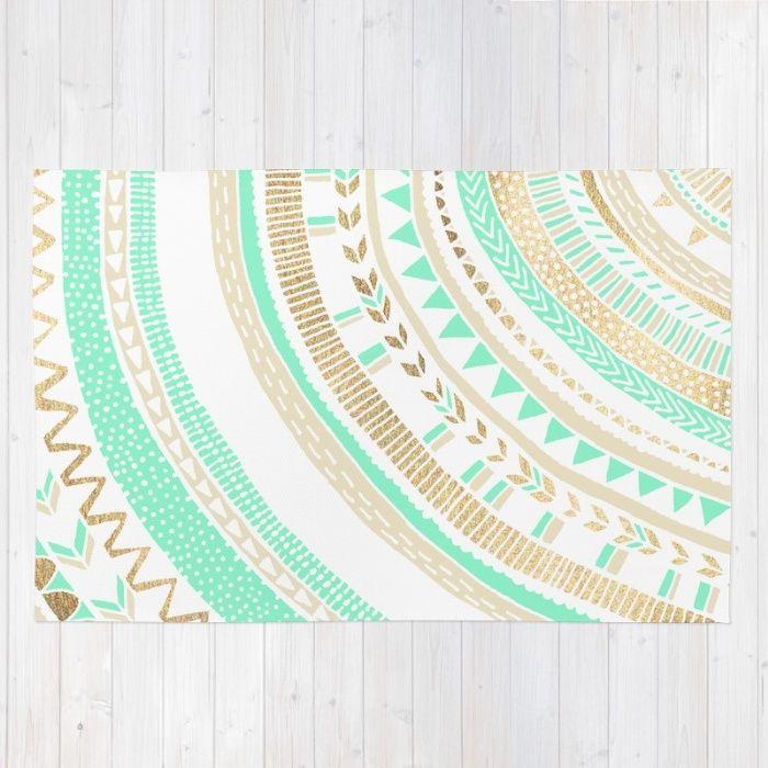 Mint Green Bedroom Rug