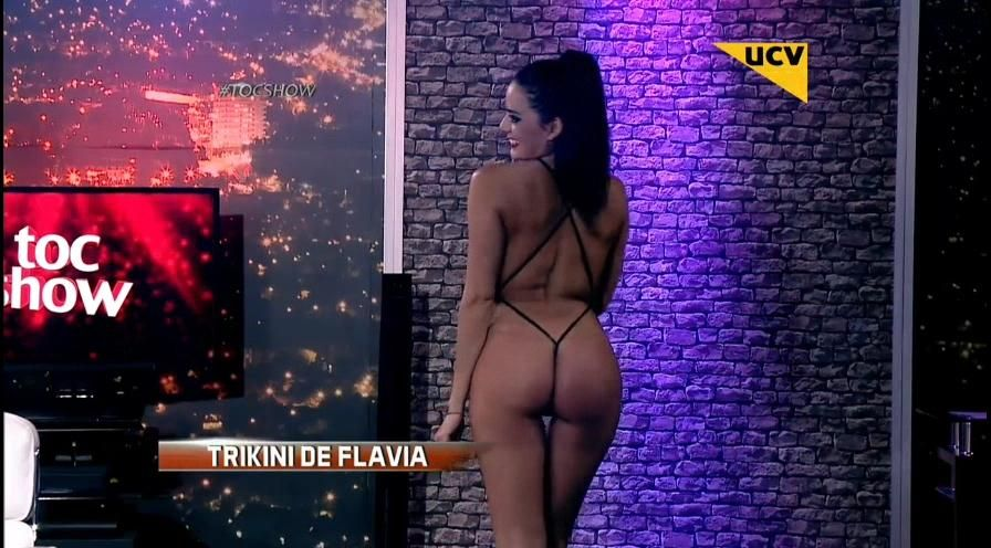 Flavia Fucenecco De Infarto En Triquini En Toc Show Portalnetcl