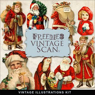 Freebies Vintage Xmas Illustrations Kit