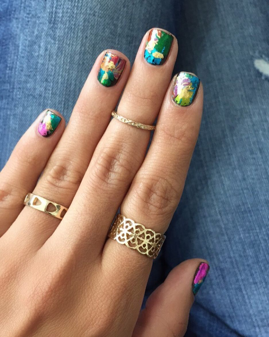 For nails this perfect, opt for a nail foil + go to town with a ...