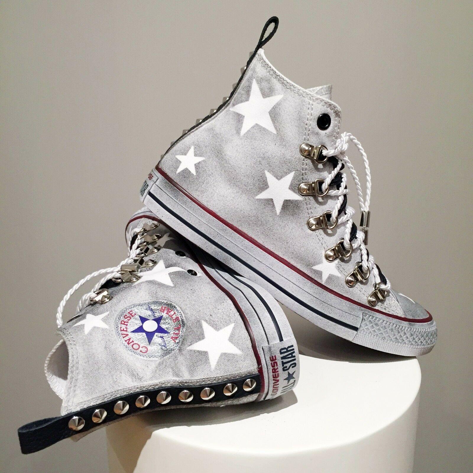 Converse All Star Borchie Chuck Taylor Bianche Personalizzate ...