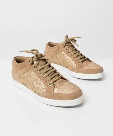 4cbffd1a36c7 Jimmy Choo 'Miami' trainers made from beige suede. Color 'Sand ...