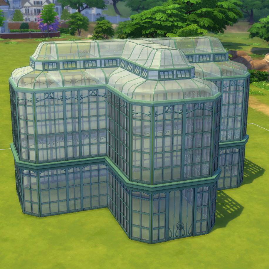Greenhouse Set | Glass roof, Sims 4 custom content ...