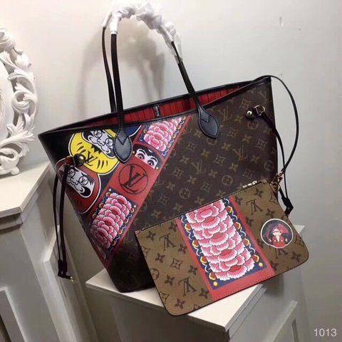 c75fe2653 LANÇAMENTO 2018 LOUIS VUITTON NEVERFULL KABUKI - PREMIUM   Bag Lady ...