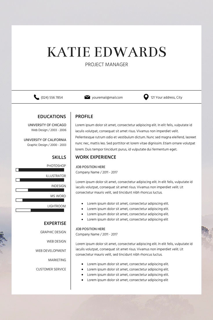 Teacher Resume Template Cv Template Word Professional Resume Design Resume Instant Download Resume Creative Resume Writing Format Odio Dolor