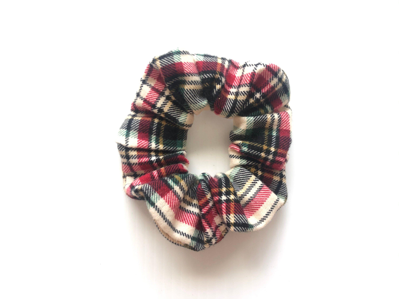 Soft Flannel Scrunchie Scrunchies Fall Flannel Scrunchie