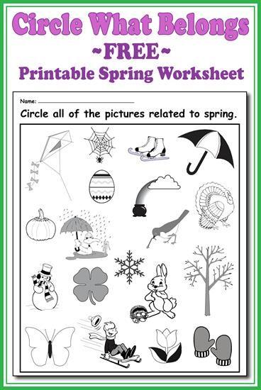 Circle What Belongs Printable Spring Worksheet Spring Worksheet Worksheets Free Worksheets Free printable spring worksheets for