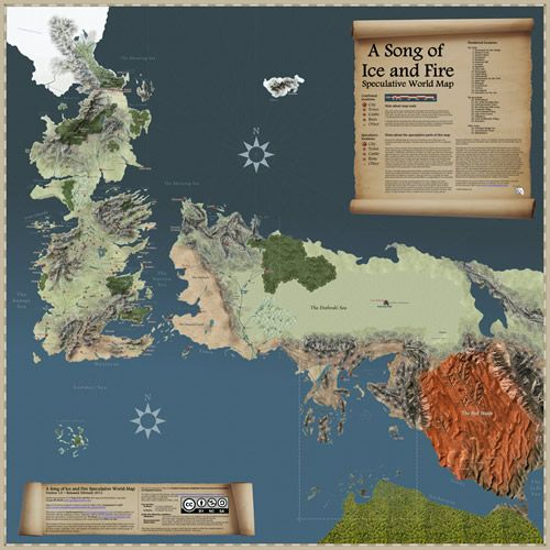 I had this on google before i deleted gmail anyway i want to be speculative world map this spoiler filled map tracks the travels of every major character from a song of ice and fire gumiabroncs Gallery