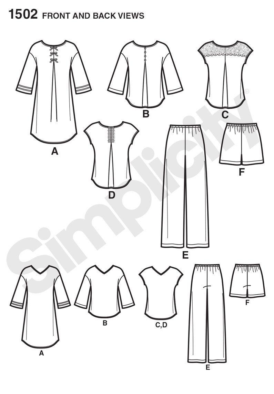 simplicity 1502 sleepwear | sewing pattern wishlist | Pinterest