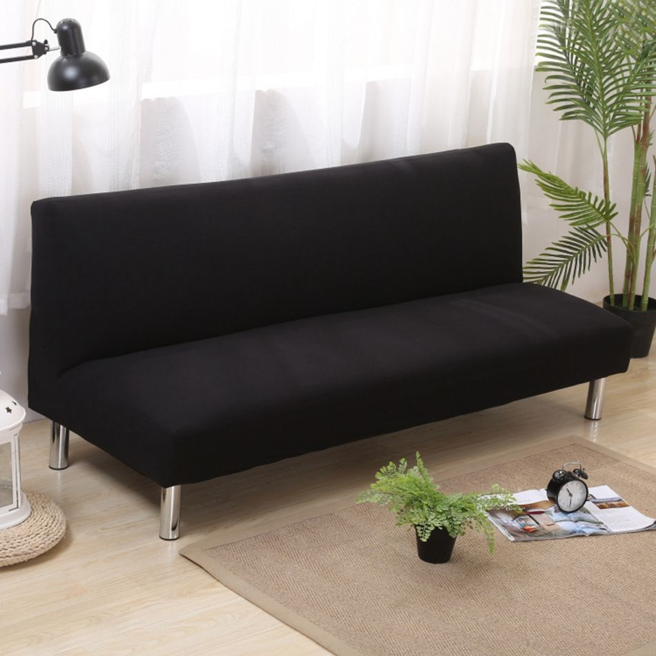 Groovy Universal Anti Dirty Black Armless Couch Sofa Covers For Machost Co Dining Chair Design Ideas Machostcouk