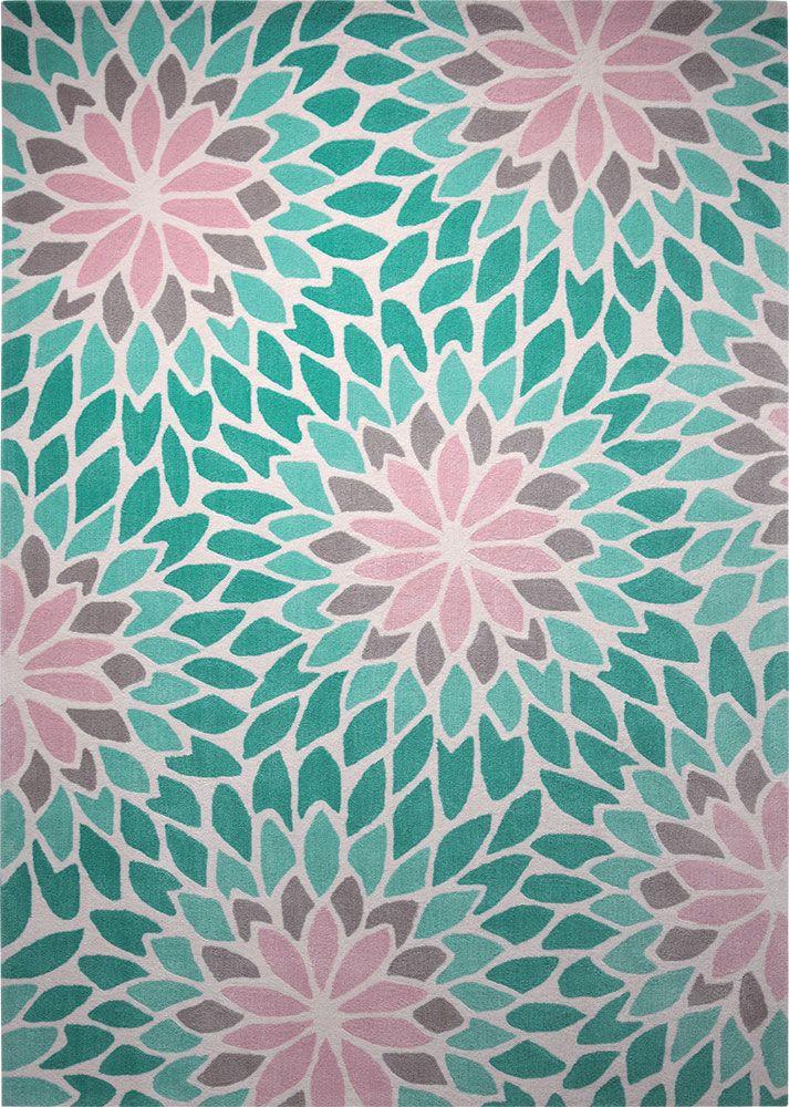Tapis Lotus Vert Design Floral Et Couleur Pastel Esprit Www Itao Fr Tapis Moderne Tapis Turquoise Tapis Esprit