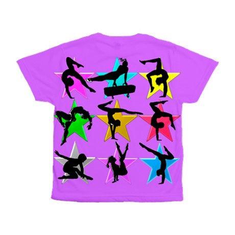 9d767d98a4b1 PURPLE GYMNAST Kids All Over Print T-Shirt on CafePress.com ...