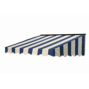 Nuimage Awnings 7 Ft 2700 Series Fabric Door Canopy 17 In H X 41 In D In Mediterranean Canvas Block Stripe 27x7x84492103 Door Canopy Canopy Canvas Awnings