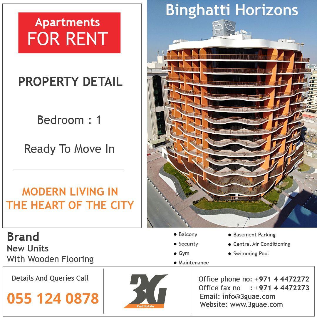 Cheap Apartments For Rent Dubai: Apartment For Rent In Binghatti Horizons, Dubai Silicon