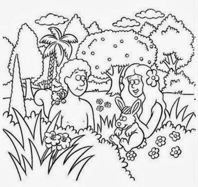 Magnífico Adán Y Eva Colorear Páginas Lds Colección de Imágenes ...