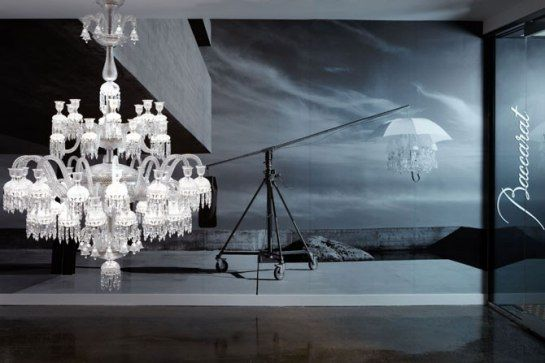 Baccarats first u s lighting showroom architectural digest