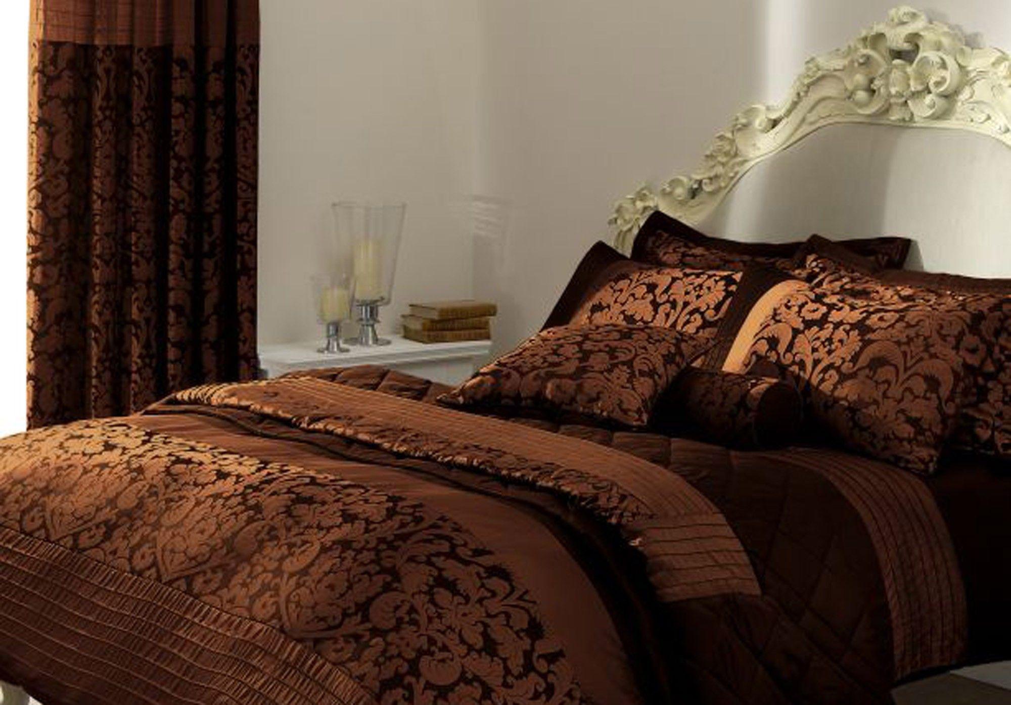 10 Beautiful Damask Patterned Bed Sets   Patterned bedding sets, Bedding  sets, Bed