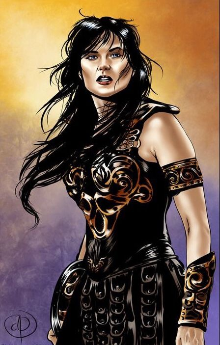 Xena warrior princess. qualsiasi cosa principesse et dipinti