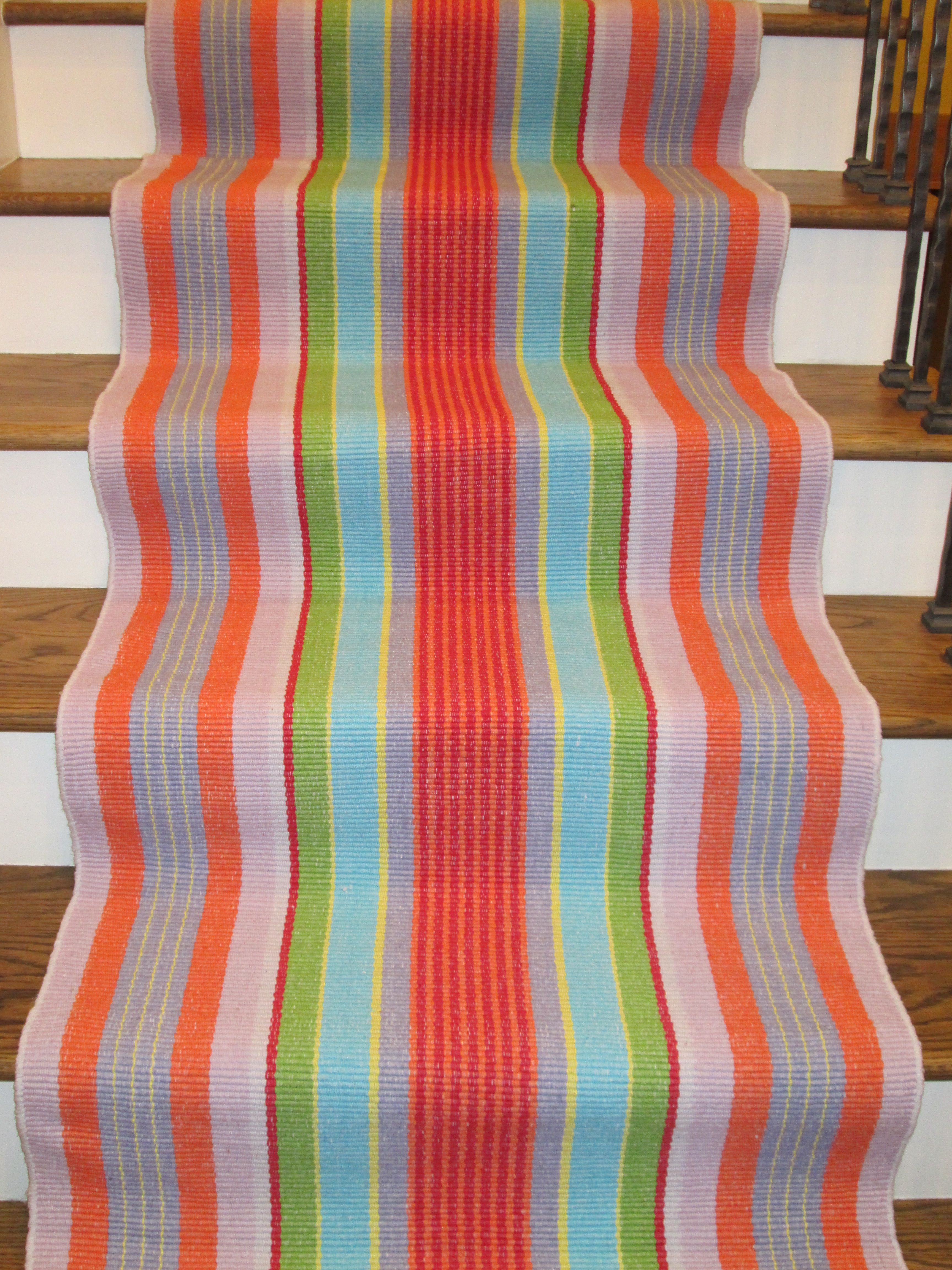 Dash And Albert Cotton Runners Colorful Fun Love It Garden Stripe 100 Woven