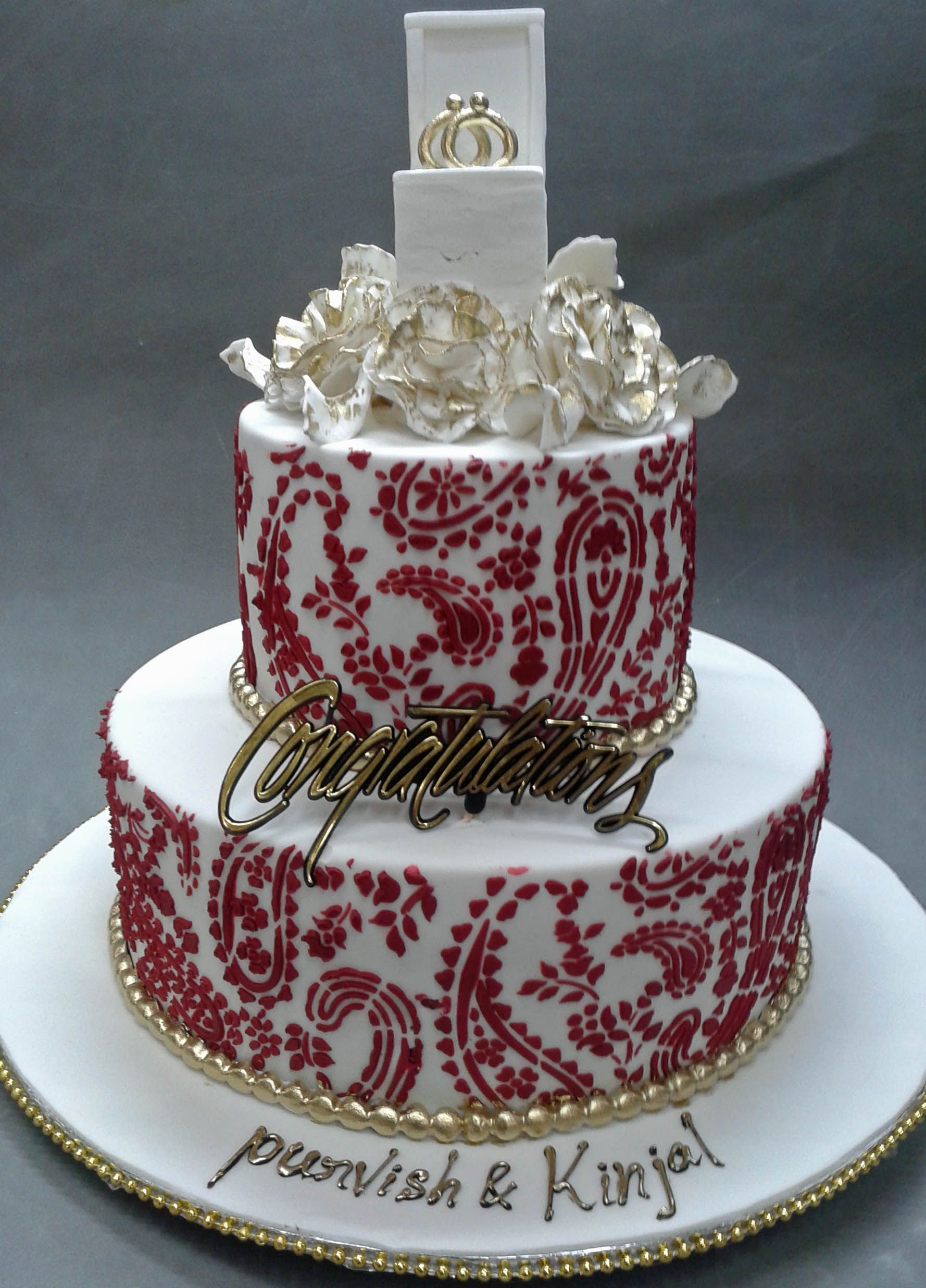 Indian Engagement Cakes Ideas