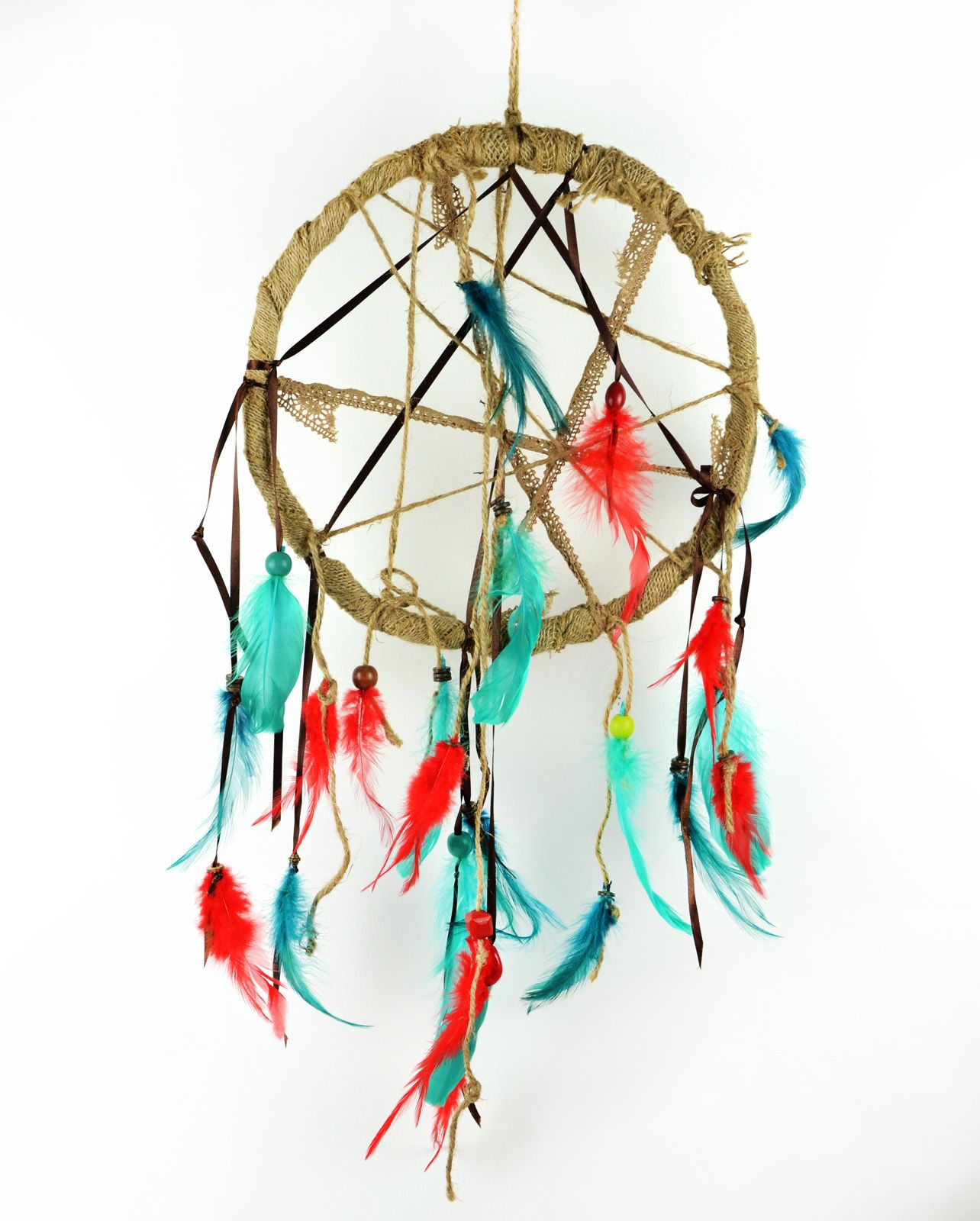 Wholesale Dream Catchers Inspiration Burlap And Lace Ribbon Dream Catcherwholesale Feathers At Www Decorating Inspiration