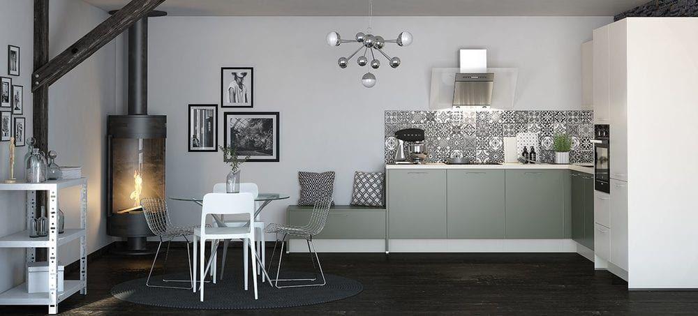 cuisine Ixina, déco urbaine, style authentique, carreaux à motifs