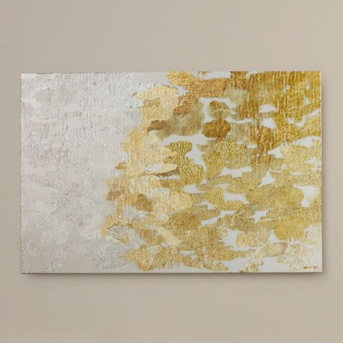 Found it at AllModern - 'Coe Gold and Platinum' by Oliver Gal Painting Print on Wrapped Canvas