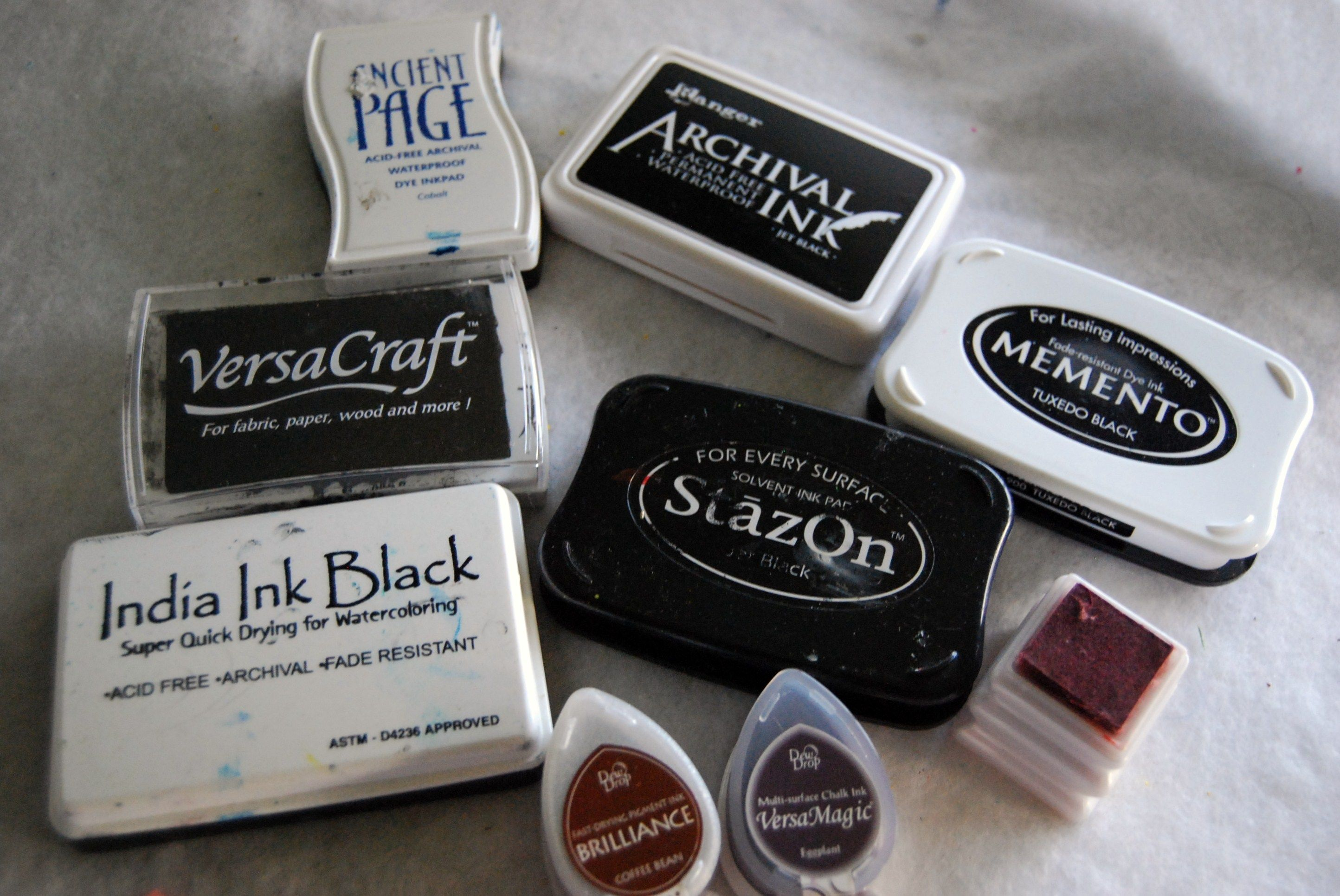 Comparison Of Stamp Pad Inks On Fabric