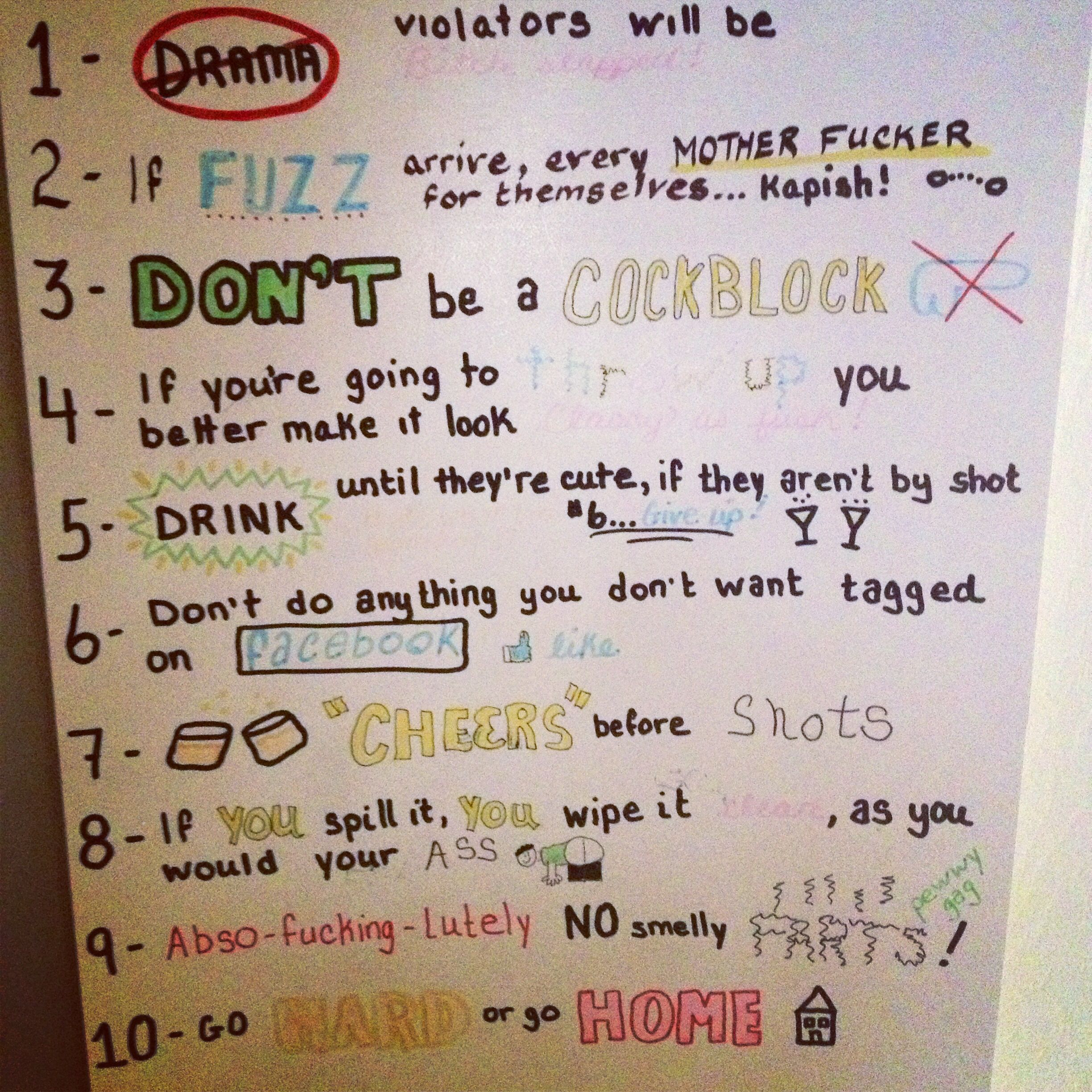 House Party Rules. Why I Hate 'em