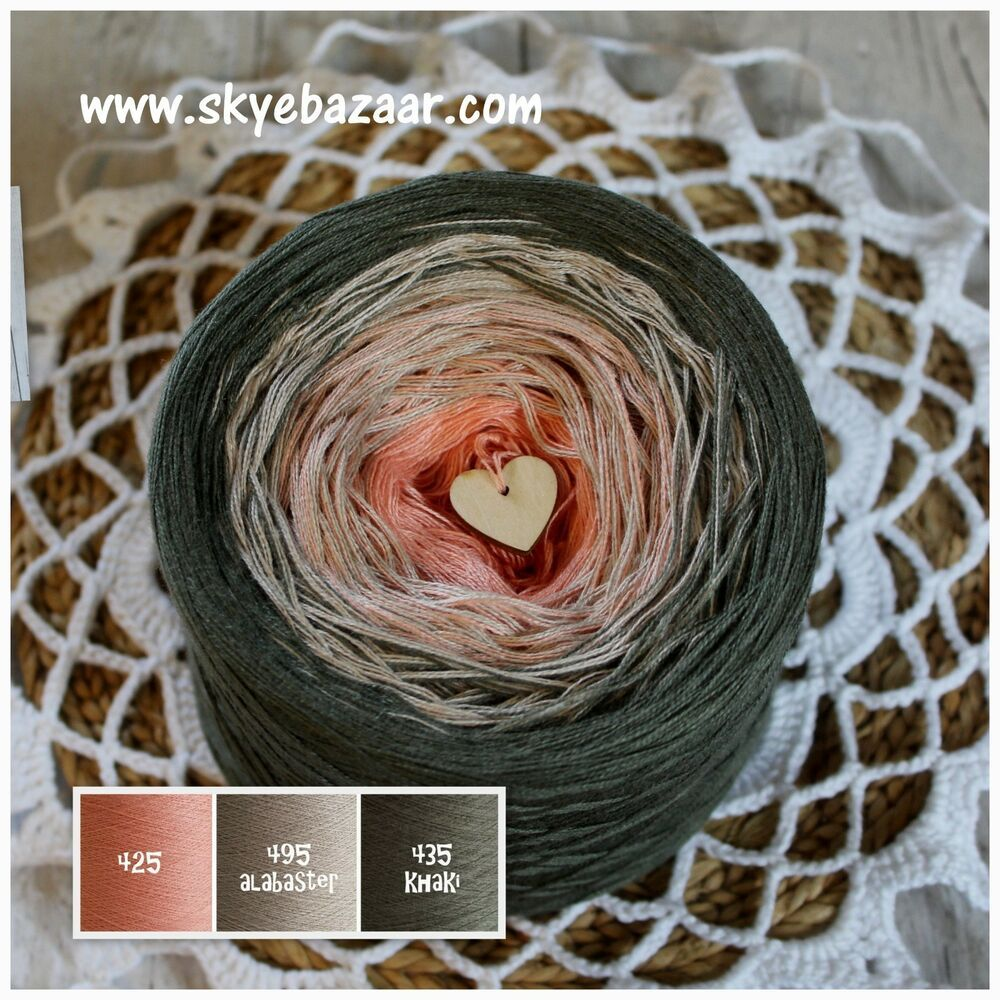 Gradient Cotton Acrylic 200g//1000m//3ply Ombre Skye Mandala Yarn Cake Yarn
