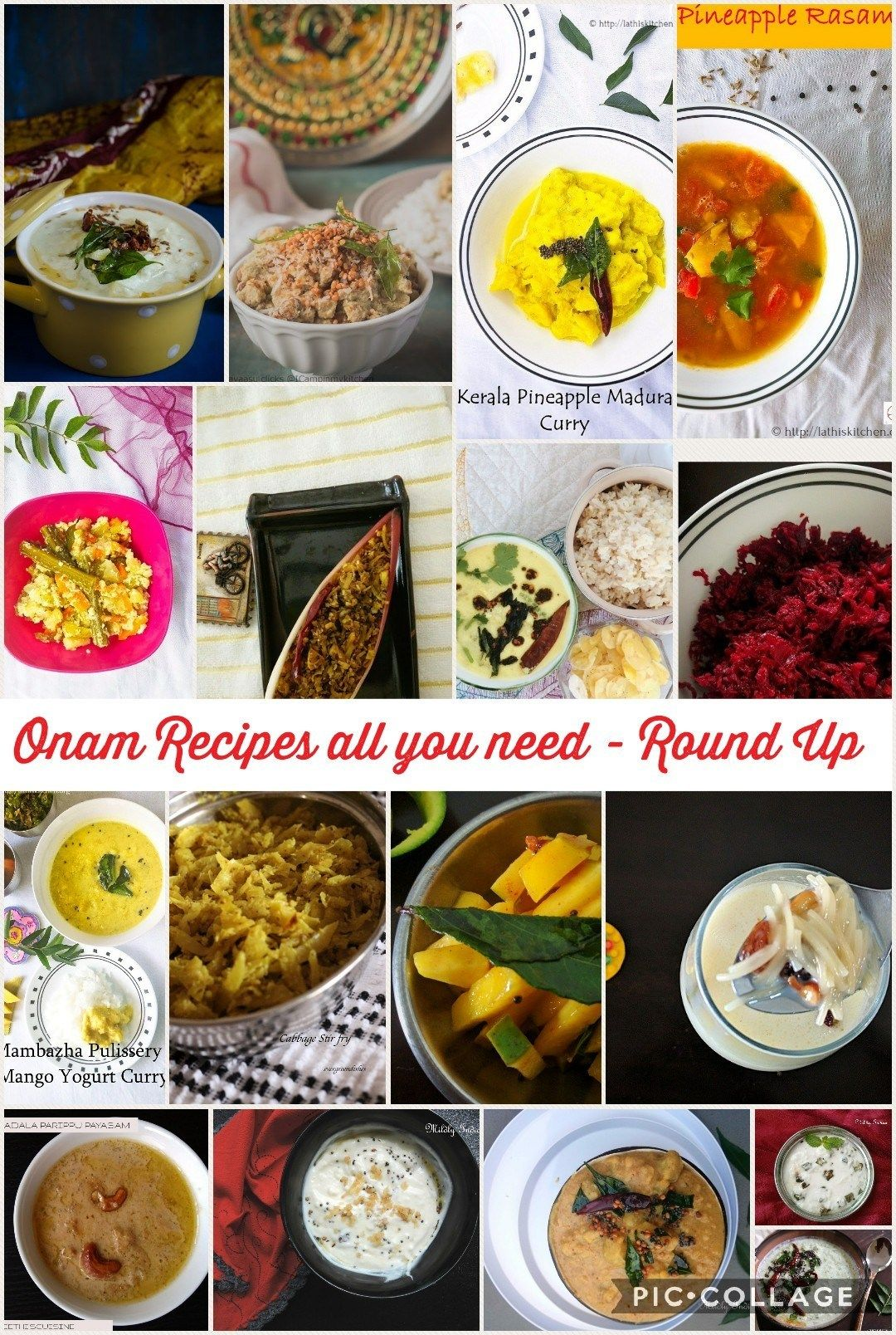 Collection of Onam recipes Round up Post (With images