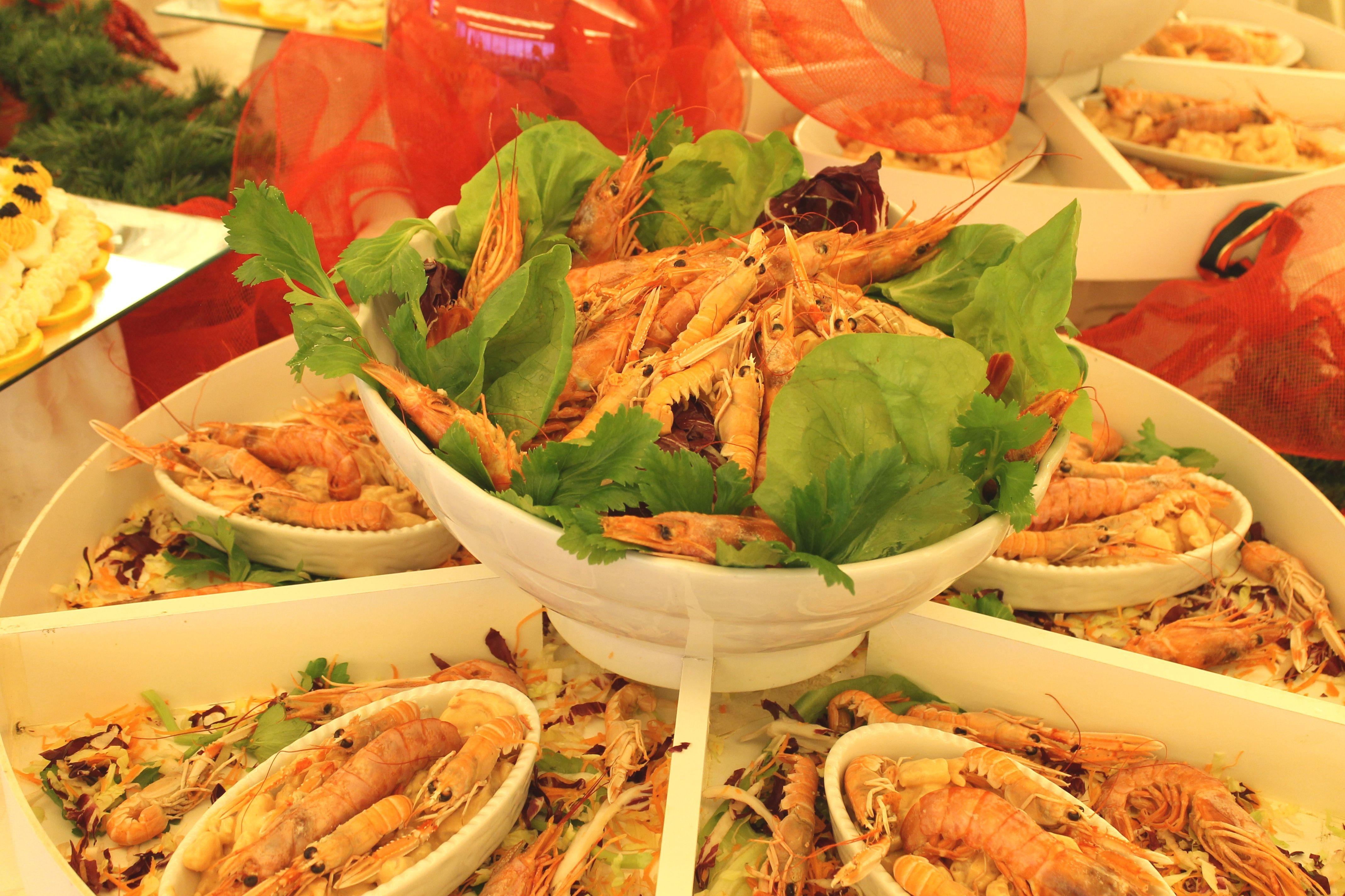 Gamberi al buffet del pranzo di Natale 2013 #loano2village
